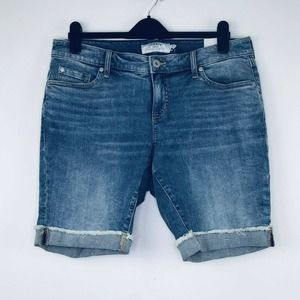 Torrid 12 Blue Jean Shorts First At Fit